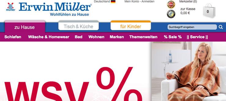 Bettwäsche günstig kaufen mit einem Gutschein von Erwin Müller.