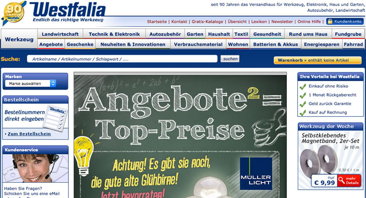Werkzeug günstig kaufen bei Westfalia. Lösen Sie einfach einen Gutschein ein.