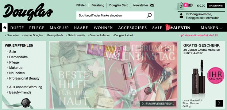 Rabatte bei Parfum & Kosmetik mit einem Gutschein von Douglas