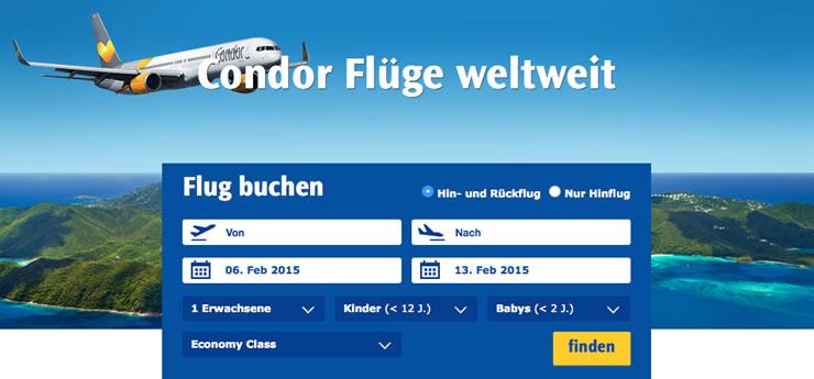 Condor Gutschein verwenden und günstig in den Urlaub fliegen